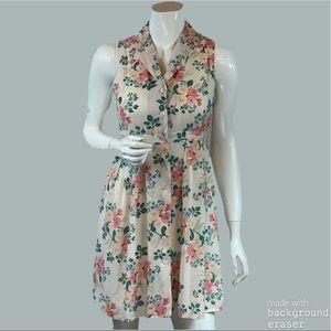 Paper Crown + Rifle Paper Co.   Floral Dress